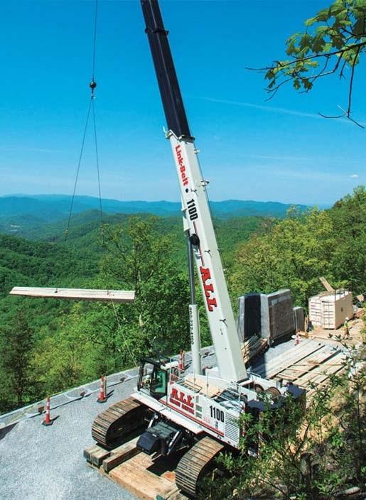 ALL Crane's 250-USt capacity TCC-2500