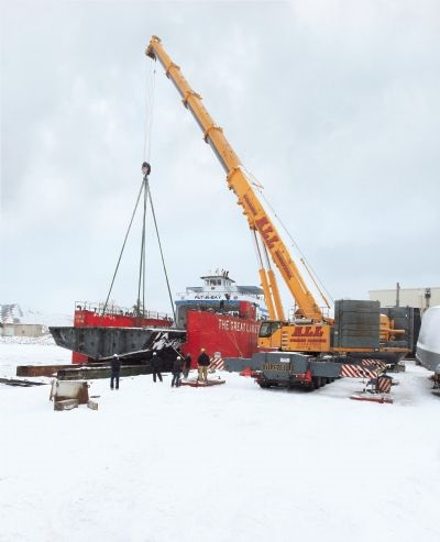 Crane at Shipyard