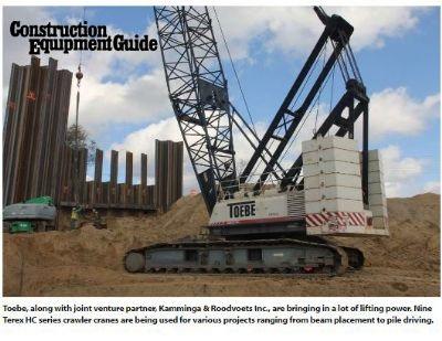Toebe Construction Uses Multiple Terex Cranes to Upgrade Bridges in Michigan