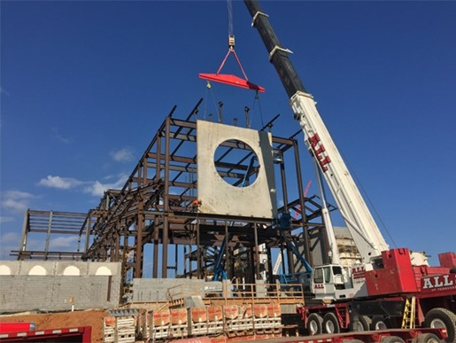 ALL Crane Rental of Tennessee Helps Build New Catholic Cathedral