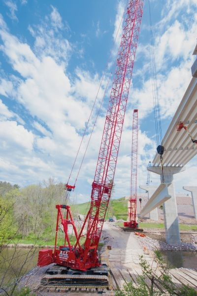 Building the Big Bridge for the Baraboo Bypass
